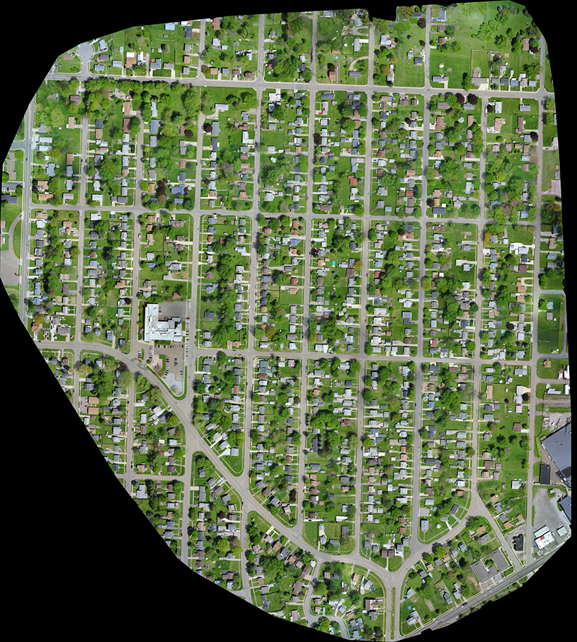 Fairmount pre-construction survey aerial photo