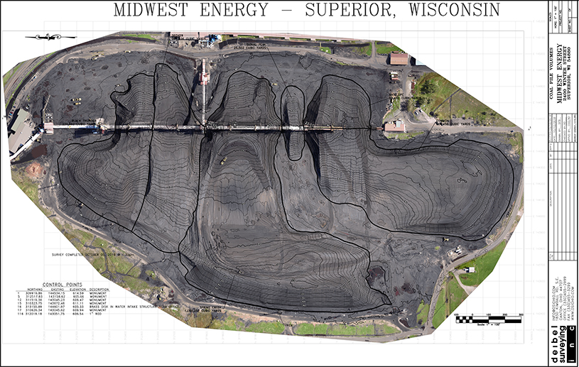 Midwest Energy coal pile volumetric survey
